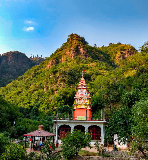 The Great Outdoors - 2017 EyeEm Awards Travel Destinations Mountain Outdoors Architecture Sky Tree Nature Mobilephotography JammuandKashmir Shivkhori Temple Hindu Namesta Hill. EyeEmNewHere Let's Go. Together. Sommergefühle