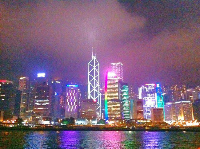 Beautiful Hong Kong Victoria Harbour Holiday Enjoying Life Traveling Night View Harbour Cruise Bauhinia Cruise Hello World! 😊