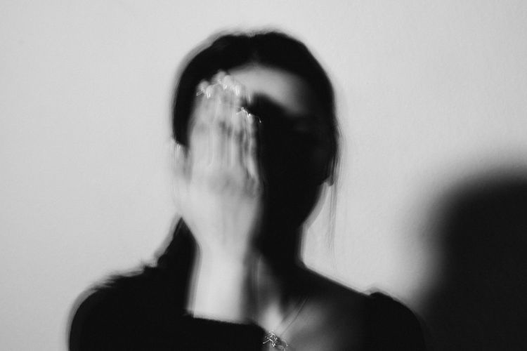 One Person Blurred Motion Headshot Adult Indoors  Portrait Human Body Part Shouting Horror Women Fear Motion Emotion Body Part Unrecognizable Person Spooky Studio Shot Terrified Wall - Building Feature Human Face Hairstyle Depression - Sadness