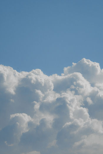 Sky Cloud - Sky Beauty In Nature Blue Tranquility No People Scenics - Nature Backgrounds Nature Cloudscape Idyllic Tranquil Scene Day White Color Outdoors Atmosphere Fluffy Meteorology Softness Cloud And Sky Light Purity Serenity Beauty In Nature
