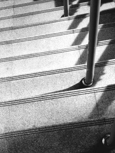 Blackandwhite Stairs BTS Skytrainbangkok Lightandshadow