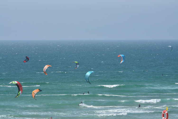 Alternative Fitness Kitesurfing Kitesurf Beach Blue Sky Ocean View Ocean Sea Sports Blue Wave Showcase April Life Is A Beach The Great Outdoors With Adobe The Great Outdoors - 2016 EyeEm Awards The Essence Of Summer People Of The Oceans Enjoy The New Normal What Who Where
