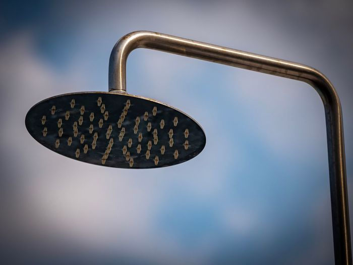 Contrast Day Outside Outdoors Shower Lumix G9 Metal No People Close-up Hanging Sky Single Object Low Angle View