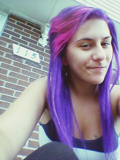 Oh hey there! Purple Hair Adorable That's Me Check This Out