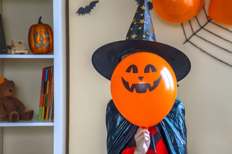 Close-up of pumpkin at home