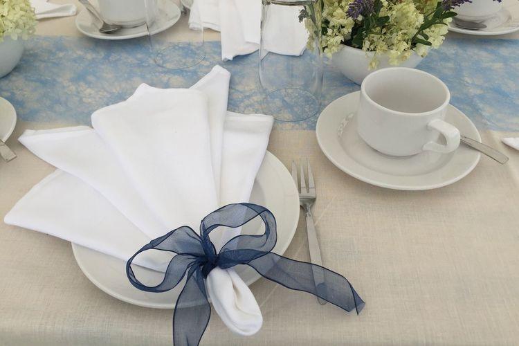 Plate Table Decoration Wedding Napkin White Table Decoration
