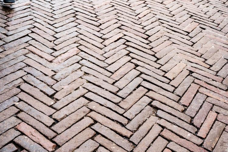Full frame shot of cobblestone footpath