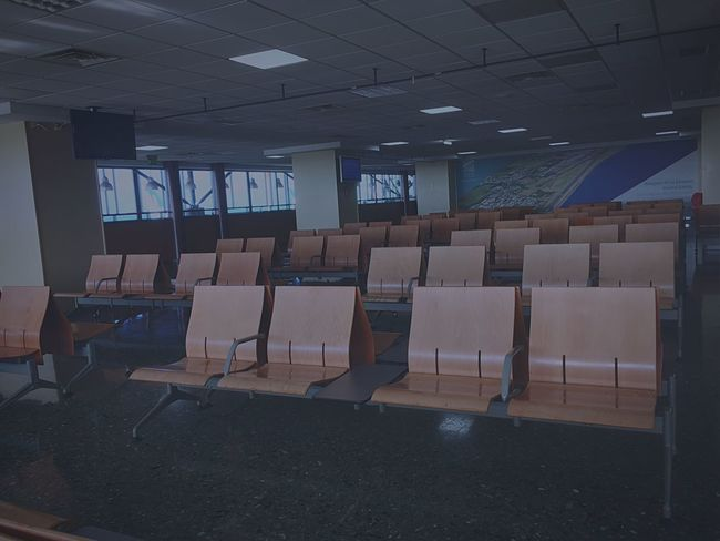 Traveling Alone... Airport Aeroport Staypositive Chaise Set Choose Your Way Waiting Room Waiting For You Cold Froid Check Departure World Call You For Adventure No Worries  No More