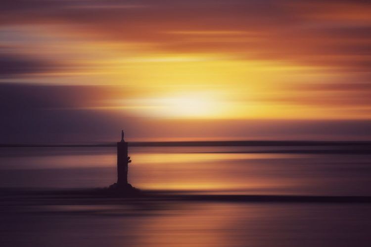 Water Sea Sunset Lighthouse Nautical Vessel Reflection Silhouette Sky Horizon Over Water