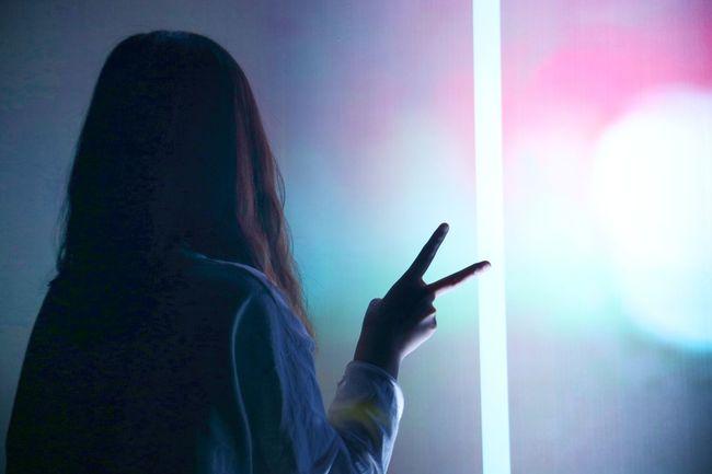 傻子 Human Hand Young Women Silhouette