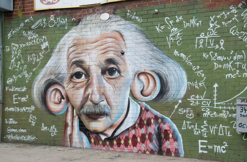 E=MC2 Architecture Brooklyn Bushwick Collective Bushwickcollective City Art Color Einstein Equations EyeEm Best Shots Graffiti Graffiti Art Math Portrait Science Street Art Urban Urban Art