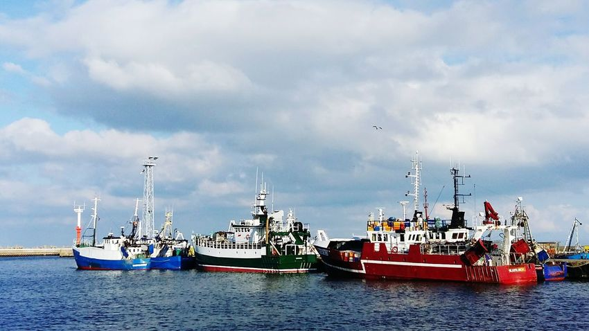 Nautical Vessel Transportation Water Sea Mode Of Transport Waterfront Boat Sky Cloud Sailing Journey Cloud - Sky Ship Tranquility Group Of Objects Ocean Nature Tranquil Scene Scenics Water Surface Władysławowo Poland Fisherman Fishing Boat Fishing