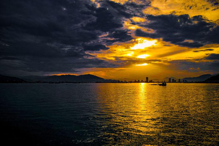 A big sunset