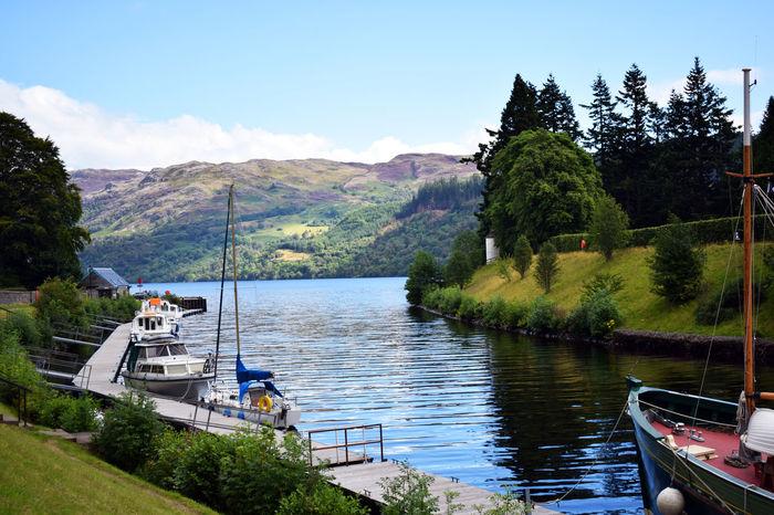 Caledonian canal - Fort Augustus Caledonian Canal Fort Augustus Highlands Landascape Loch  Lochness Scotland