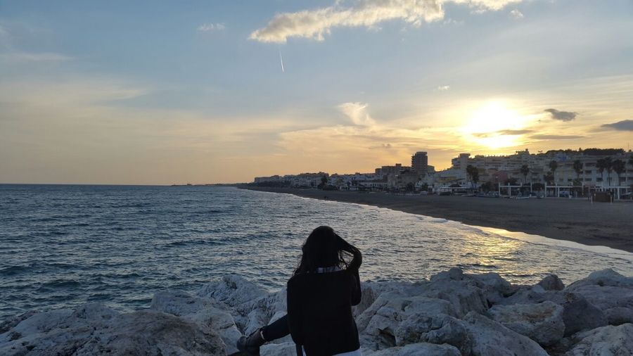 Andalucía Beach Beauty In Nature Day España Horizon Over Water Malaga Nature Outdoors Scenics Sea Sky SPAIN Torremolinos Water Live For The Story