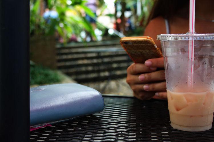 Tea Drink Earl Grey Tea Freshness Human Hand One Person Outdoors Refreshment