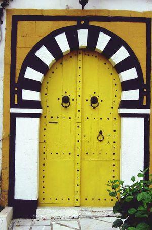 Door in Tunisia Yellow Door