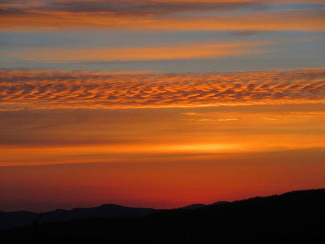 Sunset Beauty In Nature Scenics Nature Color Explosion NoFILTER :) Orange Color Beauty In Nature Canon Ixus 285 Appenninotoscoemiliano