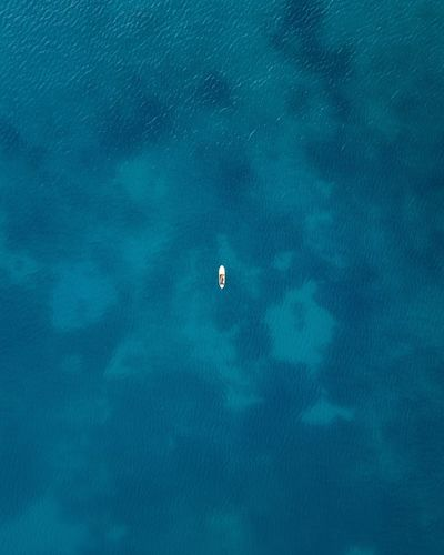 minimal Eyemphotography Eyem Best Shots EyeEm Gallery High Angle View Blue Mavic Pro Dji Drone  Dronephotography Minimalism Minimal TheWeekOnEyeEM TheWeek On EyEem One Person Greece Water Ocean Calm My Best Photo
