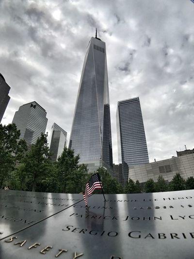 Respect Respect Memorial Ground Zero, NYC 9/11 Freedom Architecture Skyscraper Building Flag USA USA FLAG