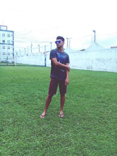 Grass One Person Standing Front View Day Outdoors Sports Clothing