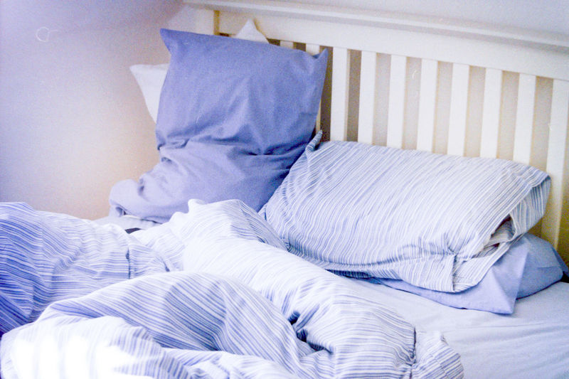 Absence Things I Like Bed Bedroom Blanket Calm Calmness Comfort Comfortable Cushion Fabric Film Film Is Not Dead Film Photography Filmisnotdead Filmphotography Home Interior Indoors  Lying Down Morning Morning Light Pillow Relaxation Resting Sleeping