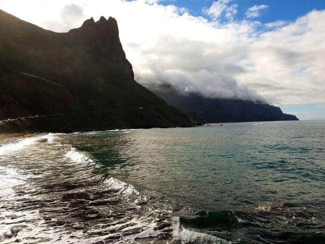 Water Sea Beach Mountain Rock - Object Sky Landscape Cloud - Sky Horizon Over Water