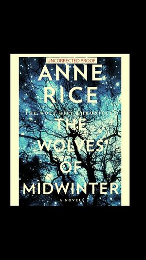 Books Reading Anne Rice The Wolves Of Midwinter