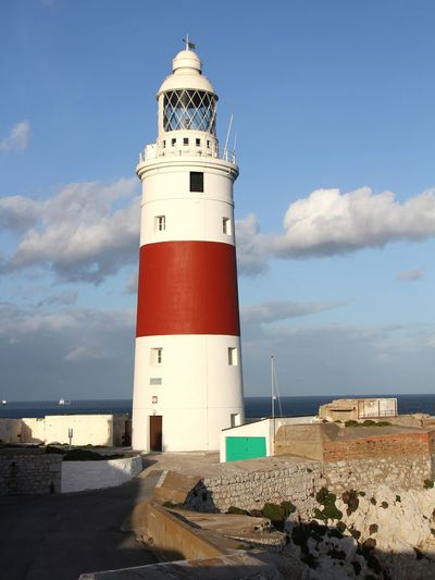 Trinity House Lighthouse. Gibraltar Landscape_Collection Travel Travel Destinations Sand Dune Nautical Equipment Lighthouse Sea Beach Nautical Vessel Water Sand Direction Guidance Lookout Tower Seascape Calm Lifeguard