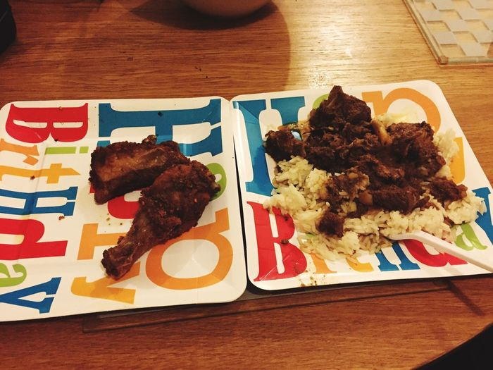 Last nights Food Porn Fried Chicken Mutton And Rice sooo good