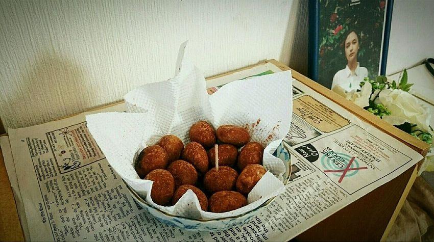 プチチョコポンデ作った。揚げるだけな(´・∀・) Cooking Cooking At Home My Cooking Sweets Home Cooking Chocolate おやつ スイーツ チョコレート ドーナツ