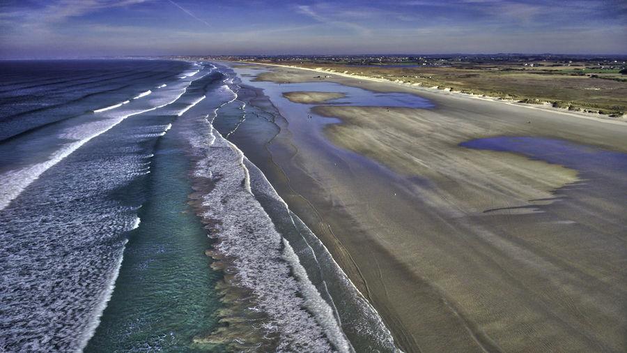 Atlantic Ocean Beach Beauty In Nature Cold Temperature Day Drone  Frozen Landscape Nature No People Ocean Outdoors Scenics Sea Sky Tranquil Scene Water Wave Waves, Ocean, Nature Dji DJI Phantom 4
