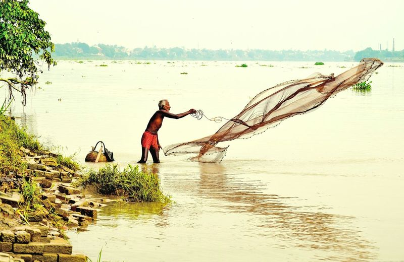 Indian Fisherman caught on camera.. First Eyeem Photo