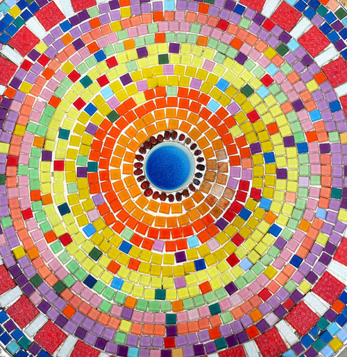 Mosaic colored ceramic stones Art And Craft Backgrounds Ceiling Ceramic Ceramic Art Circle Colorful Decoration Decorative Design Element Flooring Geometric Shape Mosaic Multi Colored Pattern Repetition Shape Texture Tile Vintage