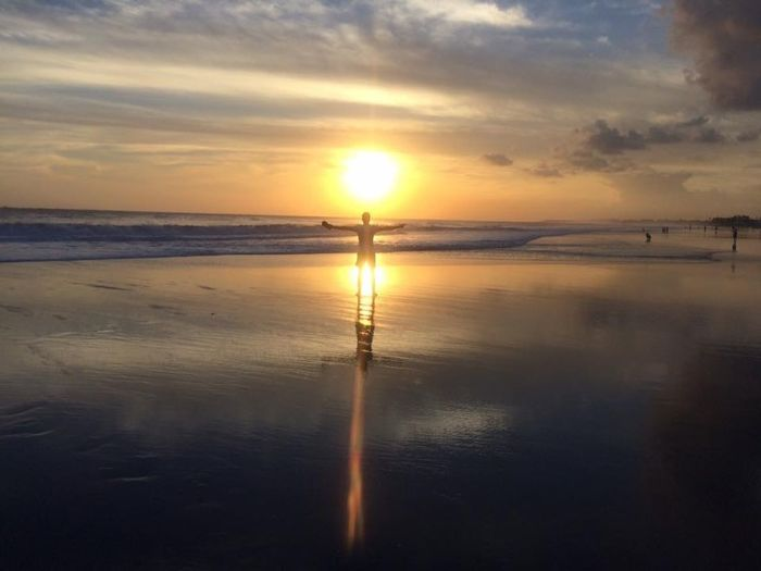 Sunset Bali, Indonesia Sunset Silhouettes Perfect Nature_collection Beach Seaside Beach Photography Paradise