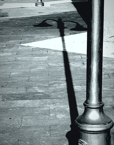 No People Outdoors Day Shadows & Lights Monochrome Metaphysical Picture Pattern Light Pole