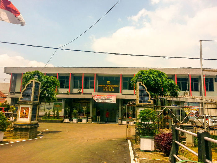 Indonesian pen Building Exterior People Outdoors No People Architectureitentiary Built Structure Cloud - Sky Tree Day Sky