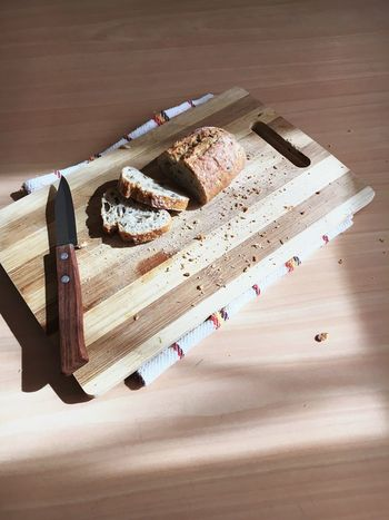 Comfortfood Morning Rituals Brown Bread Bread Wood - Material Indoors  Table High Angle View No People Work Tool Close-up