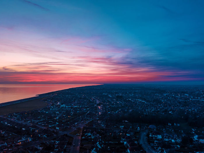 Sunset in England Drone  Dronephotography Droneshot Dji DJI Mavic Pro DJI X Eyeem Worthing Goring By Sea England Uk Sky City Sunset Cloud - Sky Architecture Building Exterior Crowd Nature Built Structure Cityscape Scenics - Nature High Angle View Aerial View Beauty In Nature Outdoors Night Horizon Crowded Illuminated