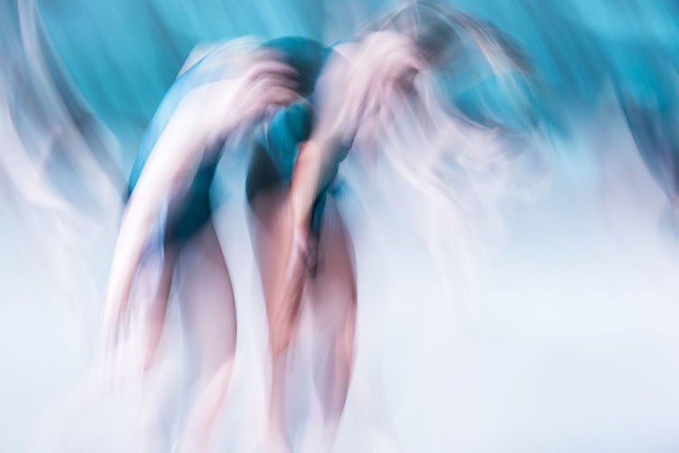 Blue Blue Color Blurred Motion Dance Dance Performance Dancers Experimental Experimental Photography Futuristic Long Hair Motion Only Women People Performance White Background Young Adult Young Women EyEmNewHere BYOPaper! AI Now