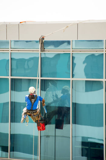 Windows Cleaning on City Building Perth Australia Windows Cleaner Cleaning Windows Building