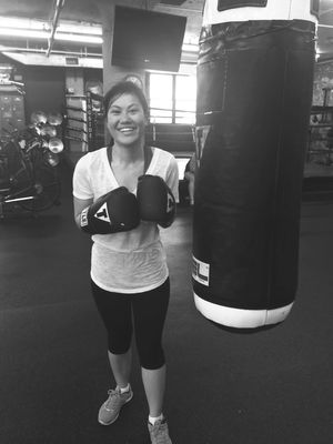 Always wanted to learn Boxing !! 😍either kill or be killed. 😁🙌 Selfdefense Determination Perseverance Somethingnew Asian Girl Blackandwhite