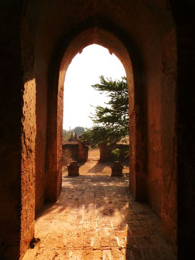 Waiting for the heatwave to go.. Built Structure Architecture History Arch Indoors  Archway The Past Historic Travel Destinations Ancient Entrance The Way Forward Formal Garden Stone Material No People Tourism Myanmar Bagan Bagan, Myanmar Temple Temple - Building