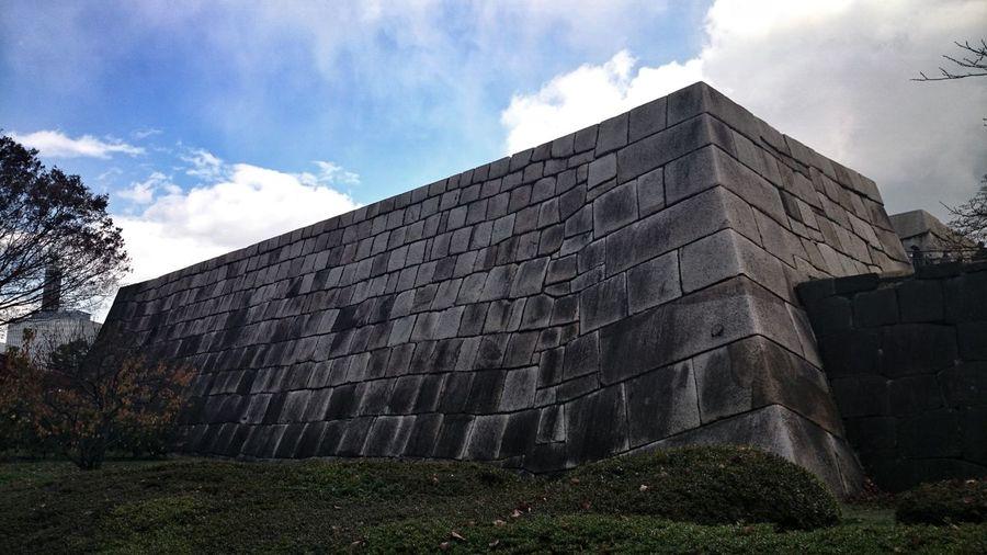 江戸城天守台。The foundation of Edo castle tower. Imperial Palace Ruins Of A Castle Stones Stone Wall