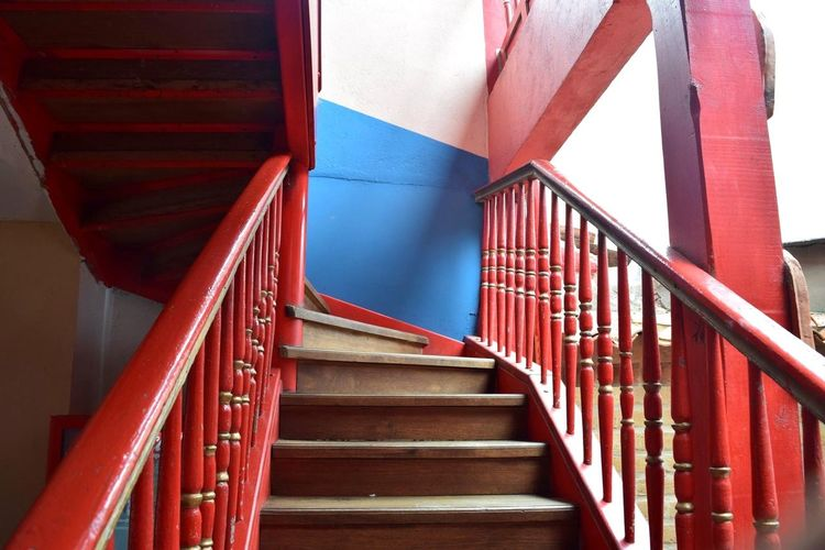 Steps Red Architecture Nikonphotography From My Point Of View Perspective Colors Otherside Who