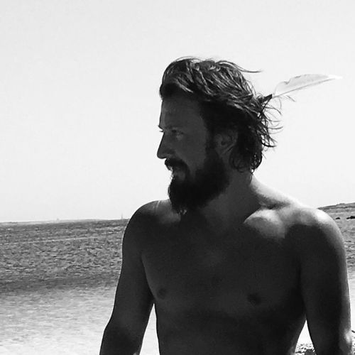 Real People Clear Sky One Person Lifestyles Day Sea Sky Leisure Activity Young Adult Outdoors Beach Horizon Over Water Shirtless Water Close-up One Man Only Me Model Hot Formentera Gallostyledocet Beard Beardlife Gitano  Hippie