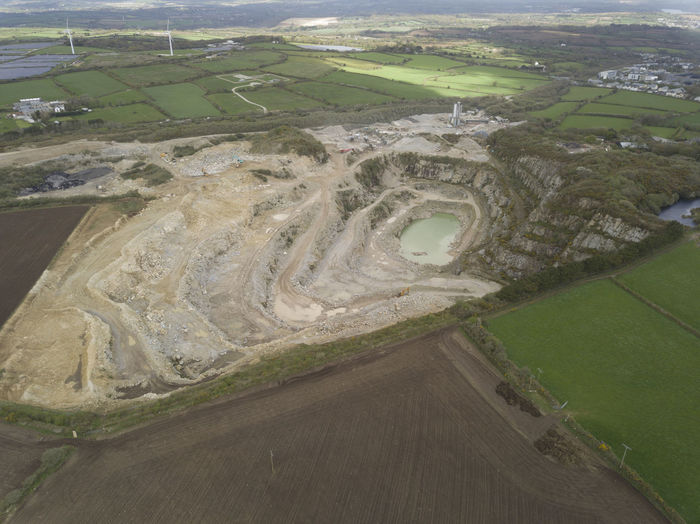 A Working quarry in the heart of Cornwall. Unbelievable scale. Indistrial Scale  Environment Outdoors Quarry