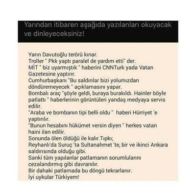 Uyan Türkiye'm ! Daha fazla canımız yanmasın yeter! Uyan Türkiye Patlama Ankara Bomba Turkey ölüm Reyhanlı Suruc Sultanahmet Terorulanetliyoruz Terorism