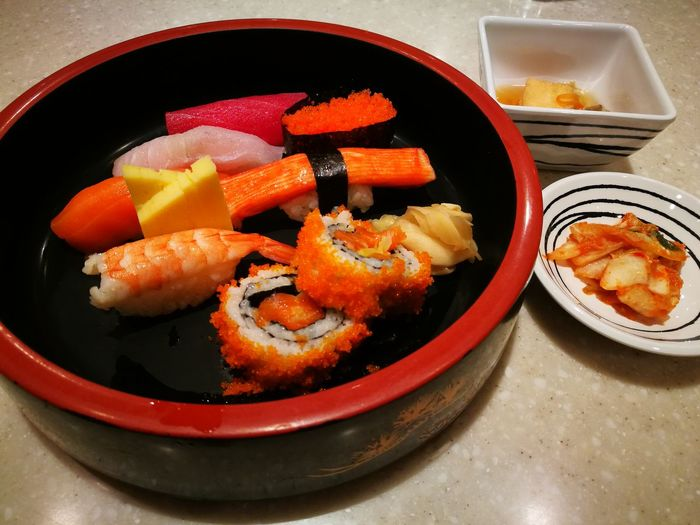 Food Food And Drink Seafood No People Indoors  Ready-to-eat Plate Healthy Eating Freshness Close-up Day Sushi