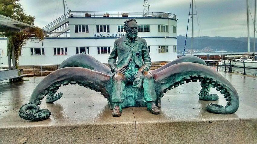 Julesverne Vigo Galicia SPAIN Landscape_Collection Sea Bronze Green Sculpture Urbanexploration